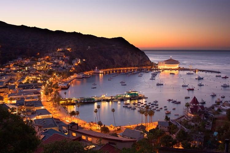 A bay on Catalina Island