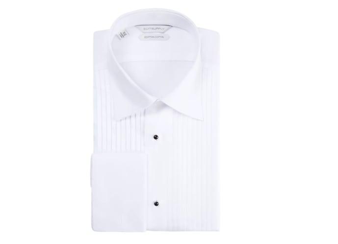Suitsupply White Plain Tuxedo Shirt