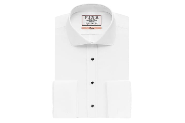 Thomas Pink Marcella Evening Super Slim Fit Double Cuff Shirt