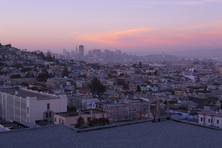 The rooftops of San Francisco