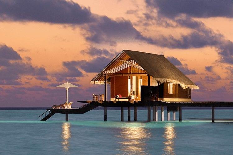 Maldives Honeymoon - villa on the water at sunset