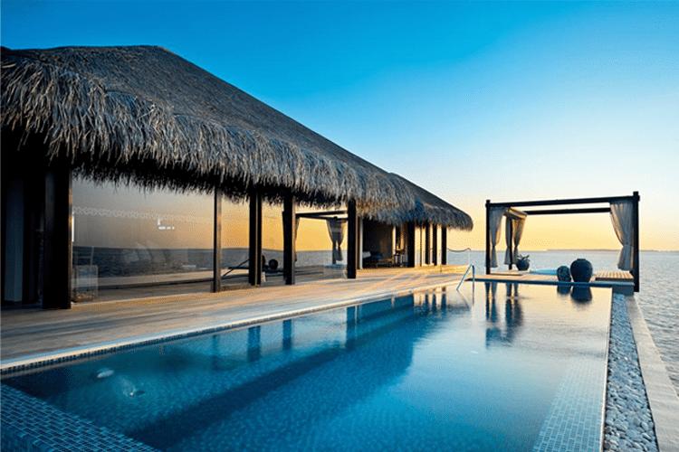 Maldives Honeymoon - View of pool outside of water villa