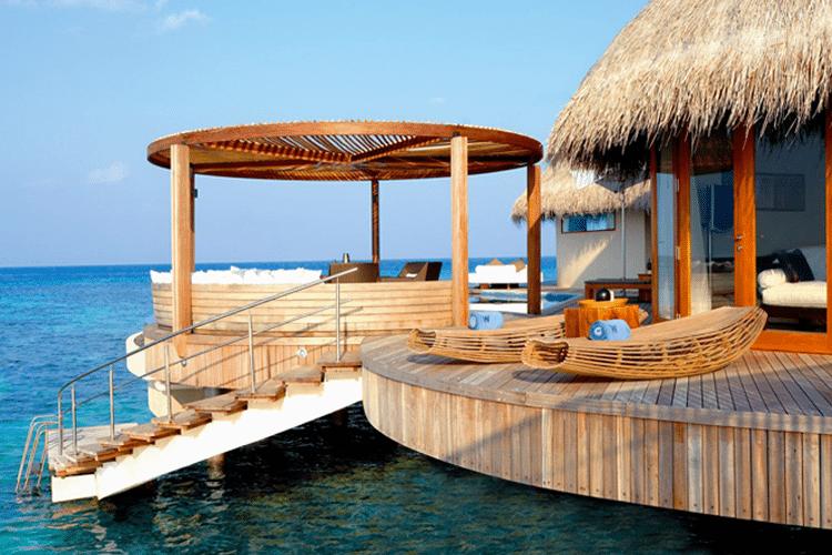 Maldives Honeymoon - Outdoor villa sundeck on water