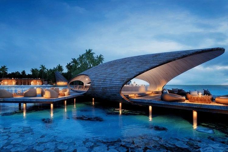 Maldives Honeymoon - View of outdoor bar on water