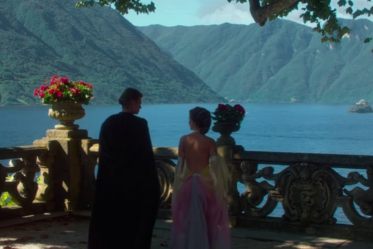 Lake Como in Italy from Star Wars: Attack of the Clones