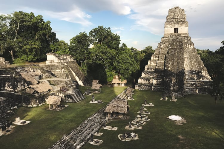 Mayan Ruins in Tikal, Guatemala from Stars Wars