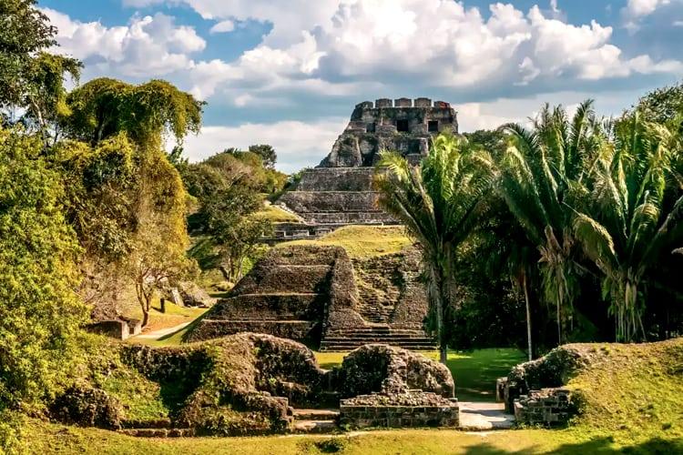 View of Mayan ruins