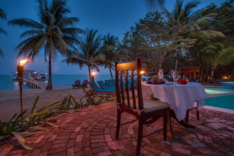 Romantic oceanside dinner for two