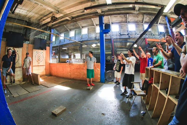 Toronto Bachelor Party - Backyard Axe Throwing
