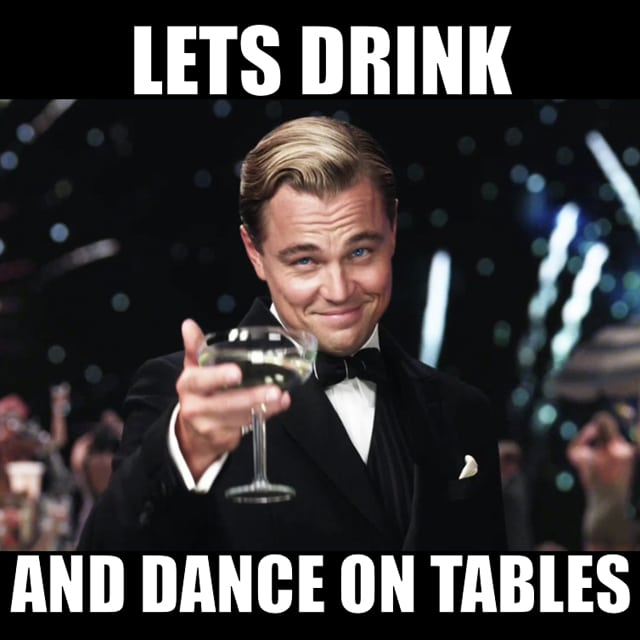 Leonardo Dicaprio In The Great Gatsby Raises His Gl And Says Lets Drink