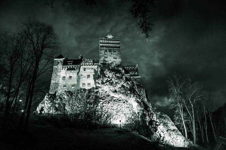 Haunted Honeymoon - view of Haunted Romanian Castle