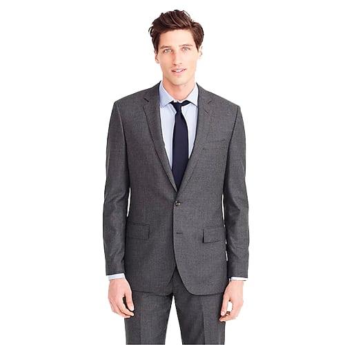 J Crew Ludlow Suit In Vintage Grey Italian Cashmere