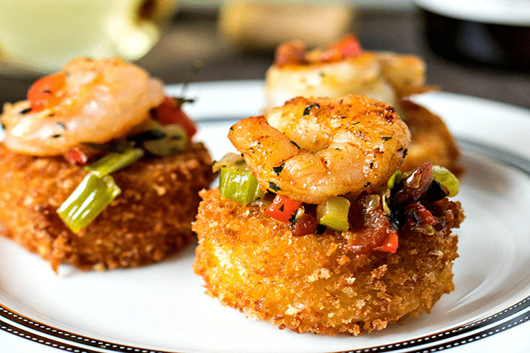 Southern Appetizers - Shrimp and Grits Bites