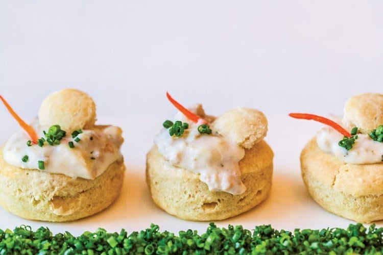 Southern Appetizers - Mini Biscuits and Gravy