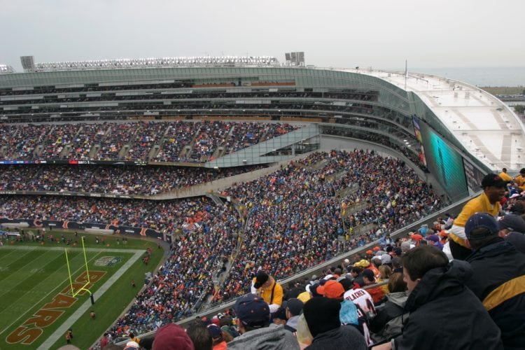 A view from the nose-bleed seats at Soldier Field