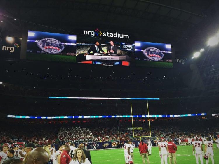 NRG Stadium at night