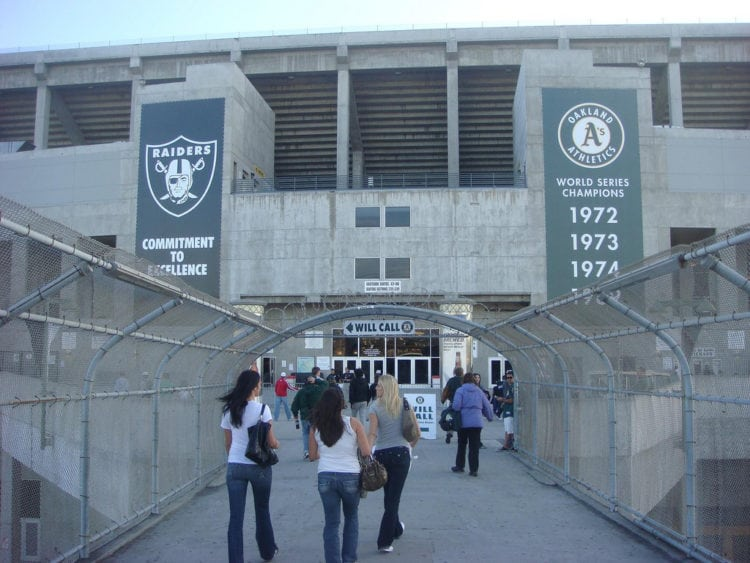Walkway entrance to the Oakland-Coliseum