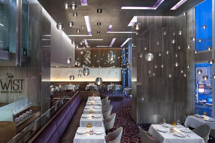 Las Vegas Honeymoon Guide - Restaurant with tall glass windows
