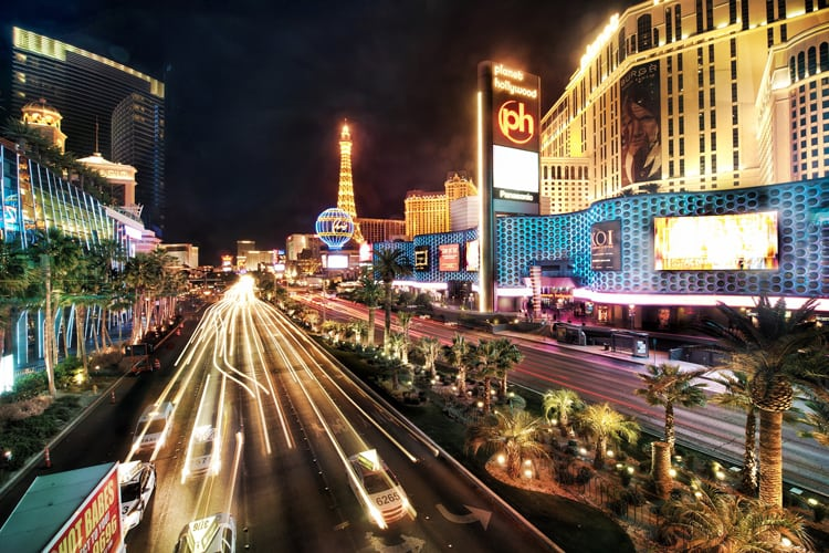 A view of Las Vegas's iconic strip
