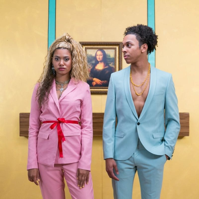 A couple dressed as Beyonce and Jay-Z from the Apeshit video