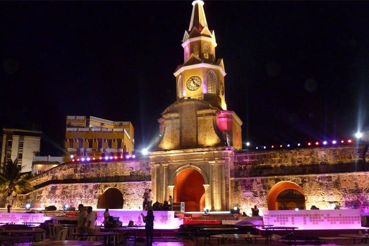 Cartagena at night.
