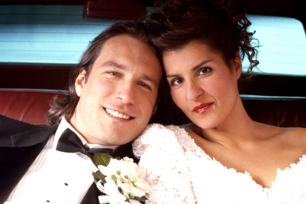 MY BIG FAT GREEK WEDDING, John Corbett, Nia Vardalos, 2002, (c) IFC Films/courtesy Everett Collection