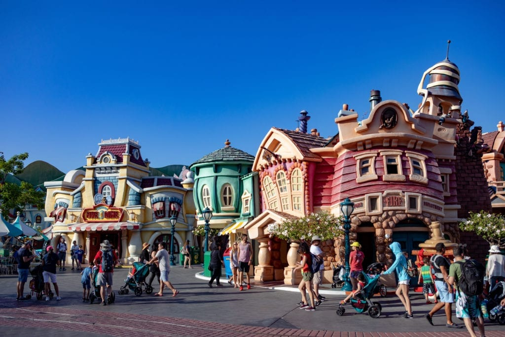 A view of Disneyland's popping Toontown