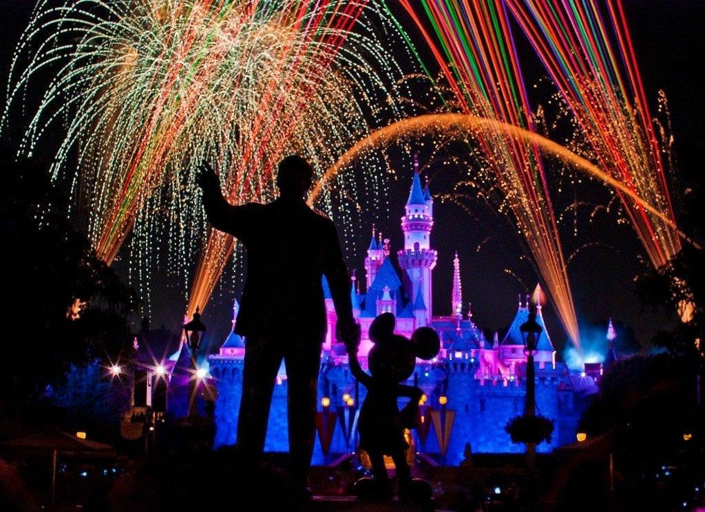 Fireworks display at Disneyland
