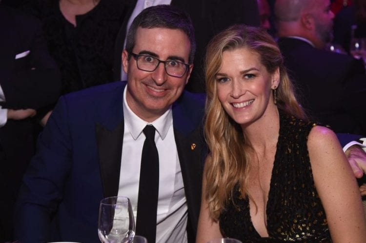 John Oliver and Kate Norley at a dinner event