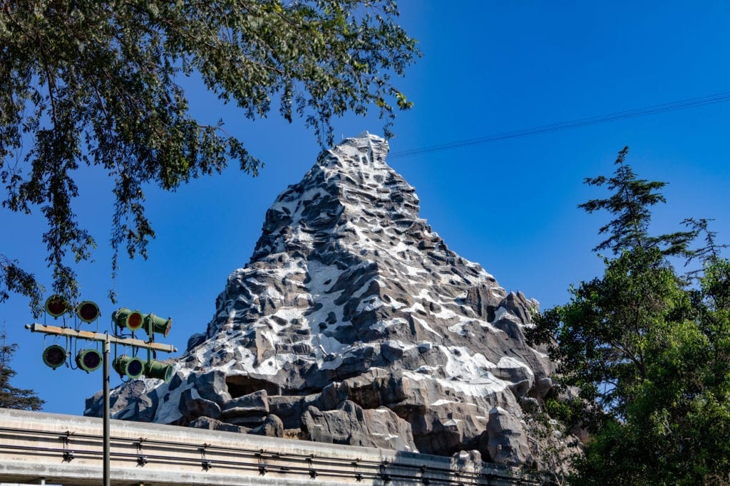 Disneyland's matterhorn bobsled ride, one of the rides located in Frontier land