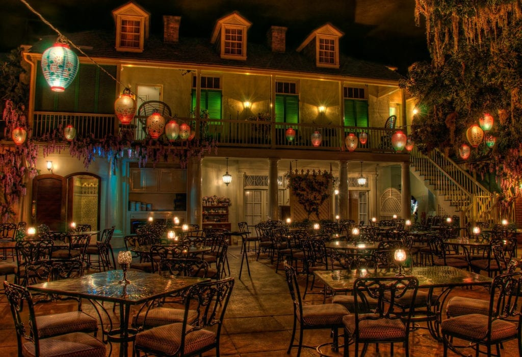 The interior of the Blue Bayou Restaurant