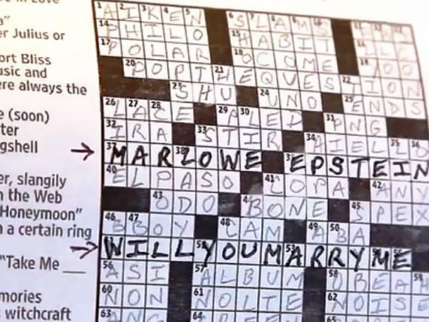 The Crossword Puzzle Proposal The Plunge