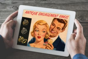 Plunge Antique Engagement Ring