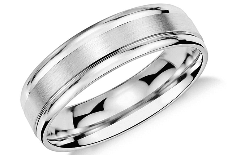 Satin Matte Finish Band Wheat Hand Engraved Ring Eternity Silver Wedding Ring 7mm Wide Men/'s Wedding Band Hammer Men/'s Wedding Band