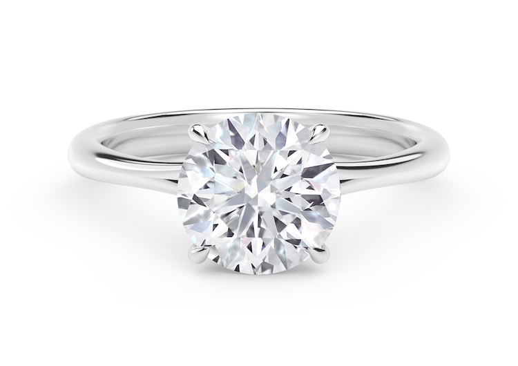 Forevermark Icon Setting Round Diamond Engagement Ring set in Platinum