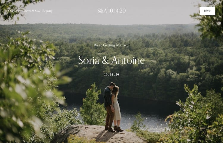 Photo-driven Wedding Template - Soria from Squarespace