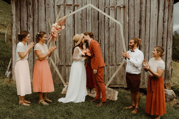 Country wedding theme decor ceremony