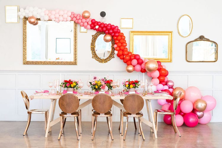 City wedding theme decor reception
