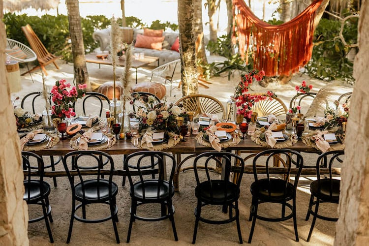 Beach wedding theme decor reception