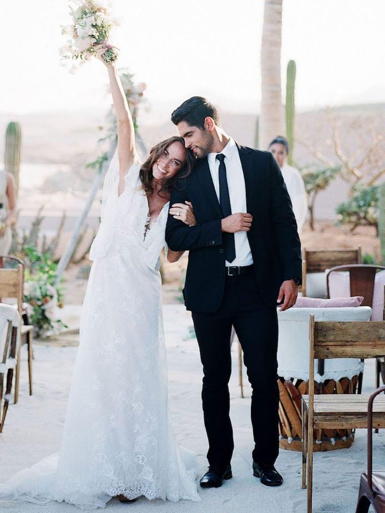 Wedding day black suit