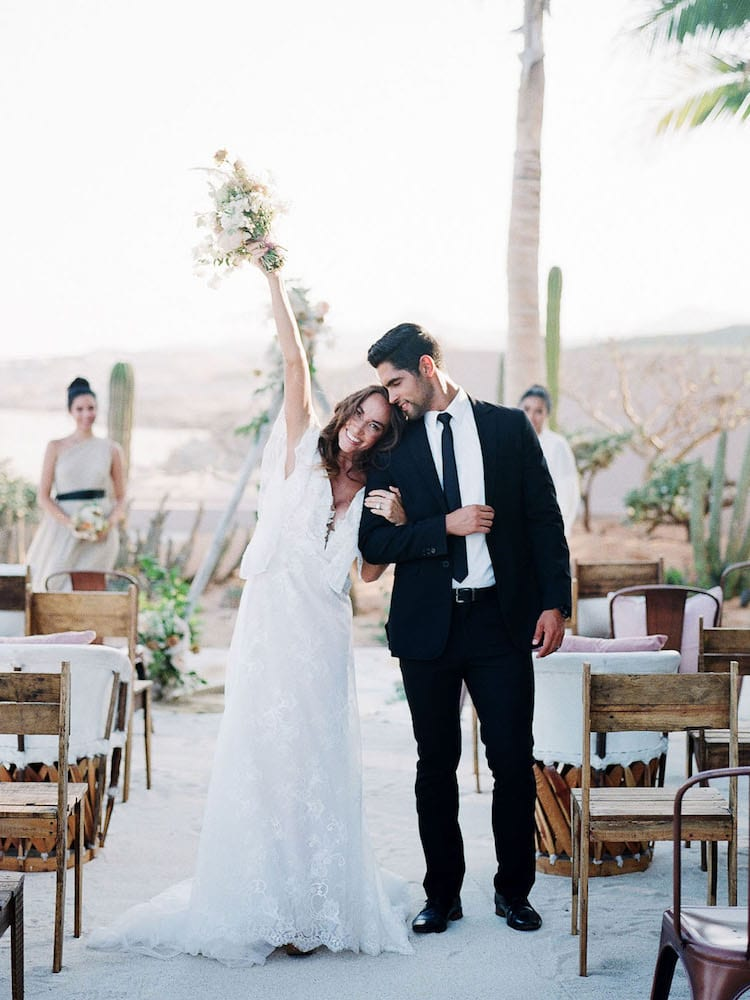Beach wedding theme couple