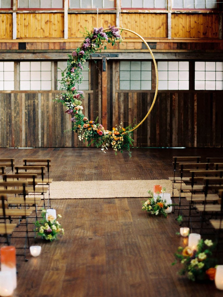 Rustic wedding theme decor ceremony