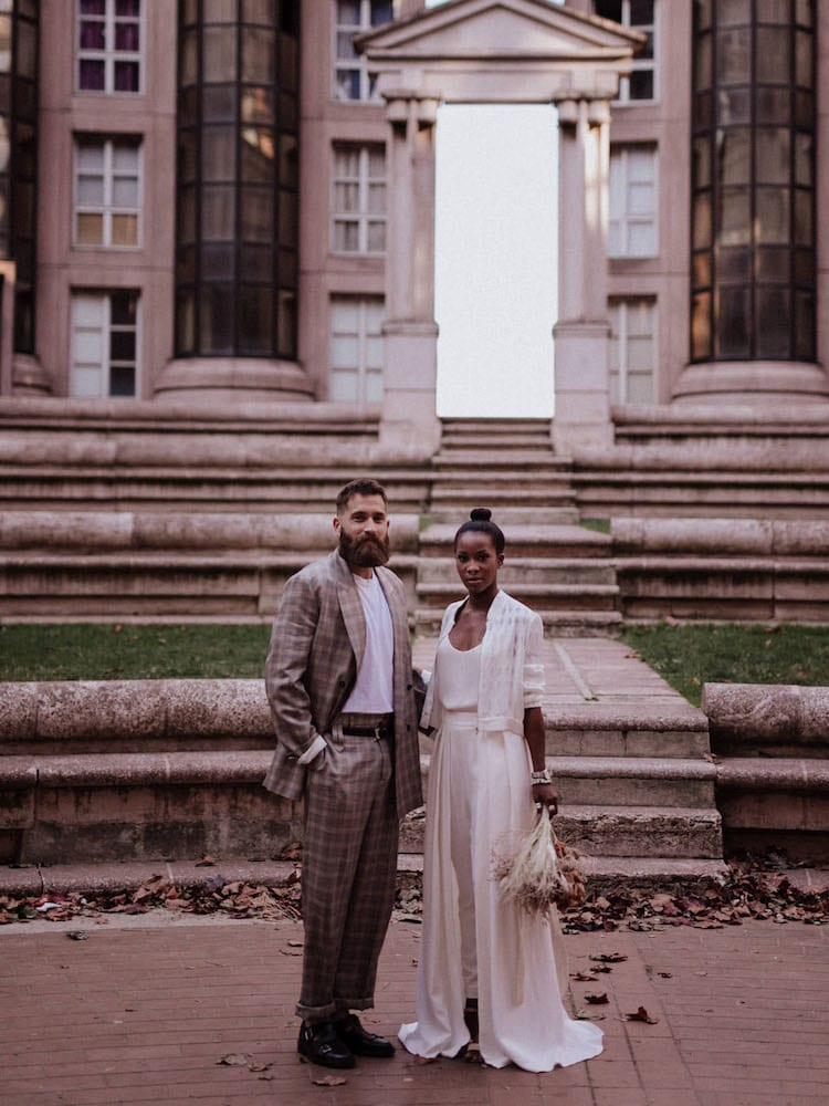 City wedding theme couple