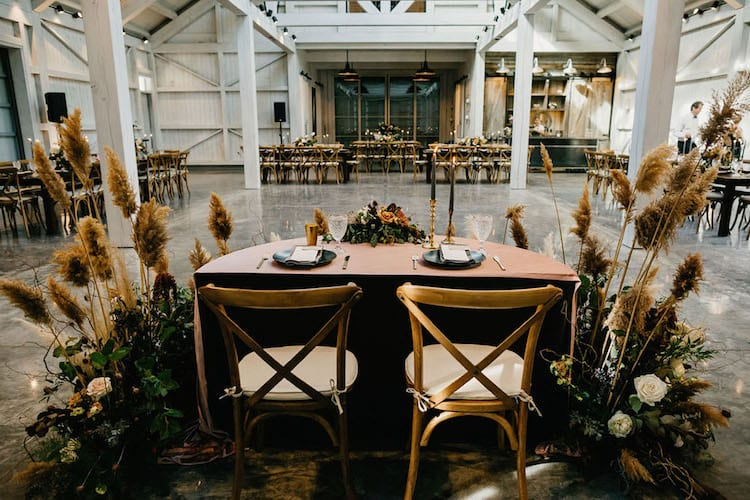 Country wedding theme decor reception