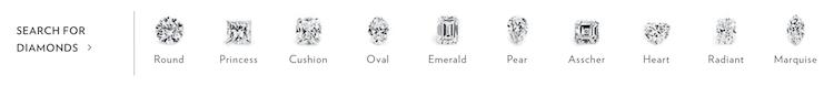 Blue nile diamond selection