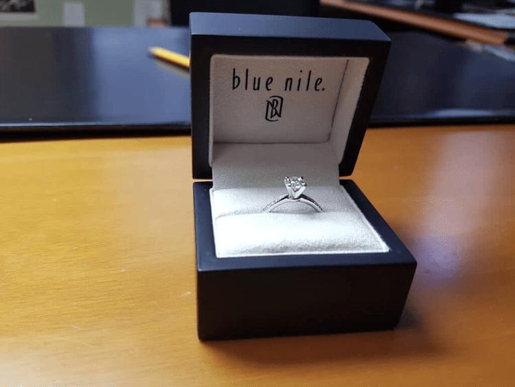 blue nile ring box